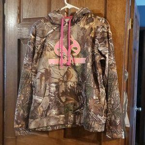 Womens Pink RealTree Hooded Sweatshirt
